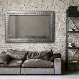 Large Zinc Rectangle Mirror