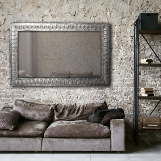 Large Zinc Rectangle Mirror